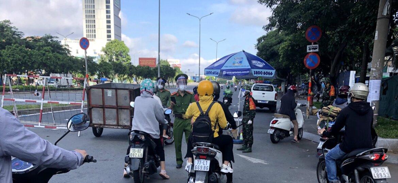 ベトナム ホーチミン市 コロナ検問